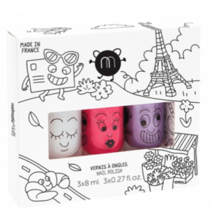 Coffret 3 vernis nailmatic kids City