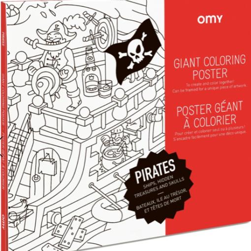 Poster à colorier Géant Pirates Omy