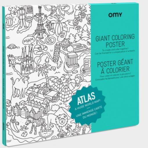 Poster géant à colorier Atlas (1)
