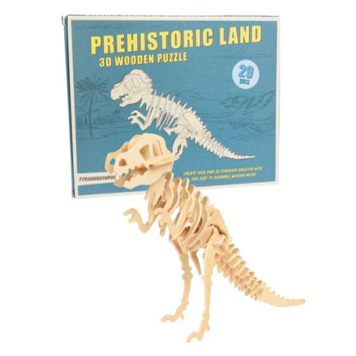 Puzzle 3D Tyrannosaure en bois Rex