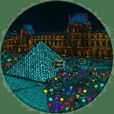 Assiette pyramide du louvre