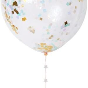 Ensemble 8 ballons confetti