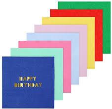 Petites serviettes de fête multicolores