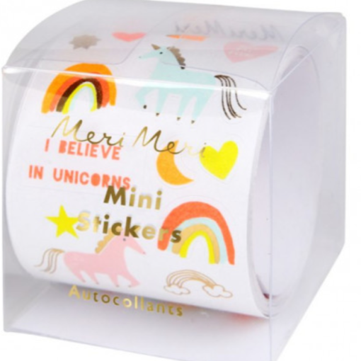 Rouleau de 500 stickers Licorne